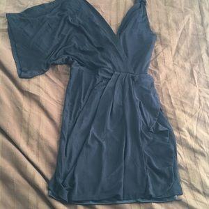 Bebe Asymmetrical Mini Dress